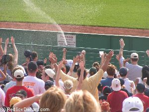 On a hot afternoon in 2004, the relievers turned the bullpen hose on the swetering bleacher crowd.